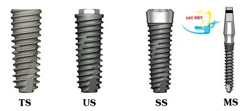 Các chân vít được sử dụng trong quy trình cấy ghép implant nha khoa